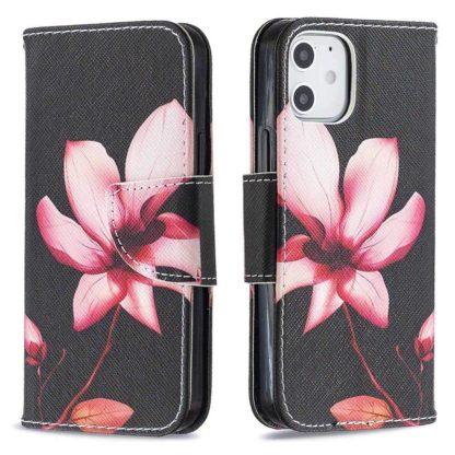 Plånboksfodral Apple iPhone 12 – Rosa Blomma