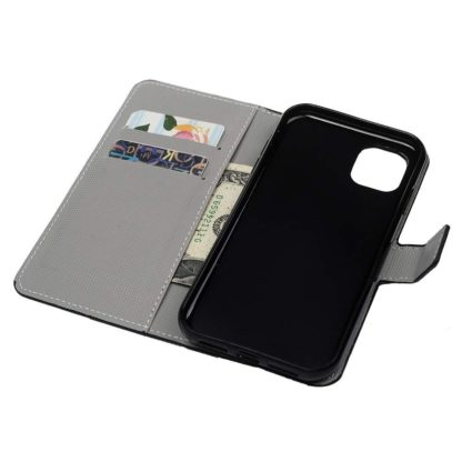 Plånboksfodral Apple iPhone 12 Pro - Svart med Fjärilar