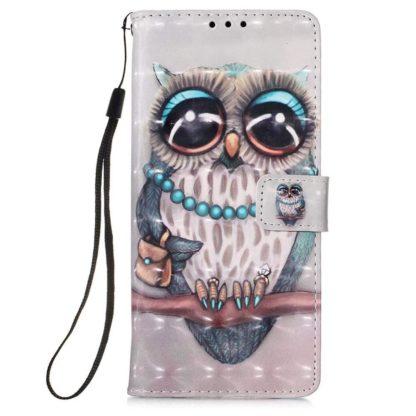 Plånboksfodral Apple iPhone 12 Pro – Utsmyckad Uggla