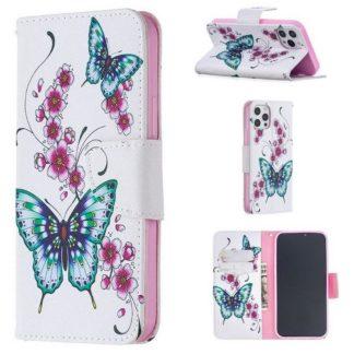 Plånboksfodral Apple iPhone 12 Pro – Fjärilar och Blommor