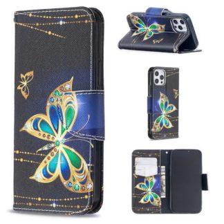 Plånboksfodral Apple iPhone 12 Pro – Guldfjäril