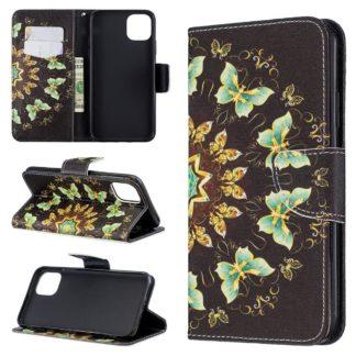 Plånboksfodral Apple iPhone 12 Pro – Fjärilar I Cirkel