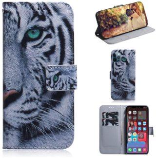 Plånboksfodral Apple iPhone 12 Pro – Vit Tiger