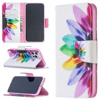Plånboksfodral iPhone 12 Pro Max – Färgglad Blomma