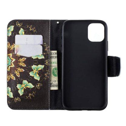 Plånboksfodral iPhone 12 Pro Max – Fjärilar I Cirkel
