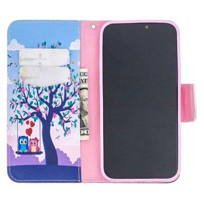 Plånboksfodral iPhone 12 Pro Max – Ugglor på Gunga