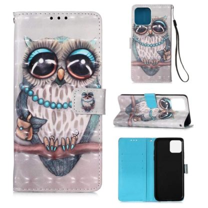Plånboksfodral iPhone 12 Pro Max – Utsmyckad Uggla