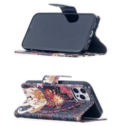 Plånboksfodral iPhone 12 Pro Max – Indiskt / Elefant