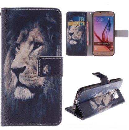 Plånboksfodral Samsung Galaxy S6 – Lejon