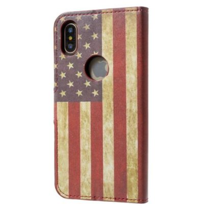 Plånboksfodral iPhone X / iPhone Xs - Flagga USA