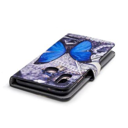 Plånboksfodral Huawei P20 Lite - Blå Fjäril
