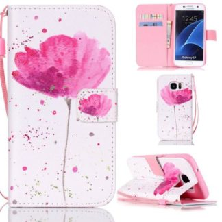 Plånboksfodral Samsung Galaxy S7 – Rosa Blomma