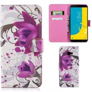 Plånboksfodral Samsung Galaxy J4 Plus - Lotus