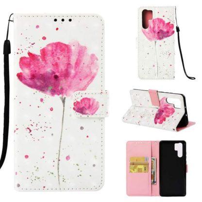Plånboksfodral Huawei P30 Pro – Rosa Blomma