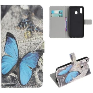 Plånboksfodral Samsung Galaxy A40 - Blå Fjäril