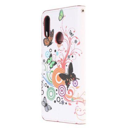 Plånboksfodral Huawei Y6 2019 - Vit med Fjärilar