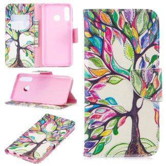 Plånboksfodral Huawei P30 Lite – Färgglatt Träd