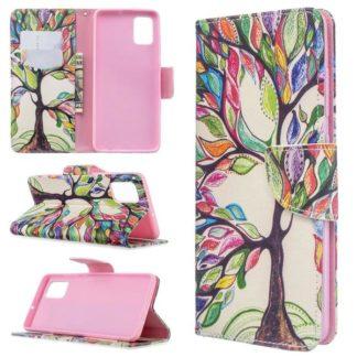 Plånboksfodral Samsung Galaxy A71 – Färgglatt Träd