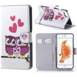 Plånboksfodral iPhone SE (2020) - Ugglor & Hjärtan