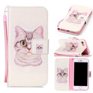 Plånboksfodral iPhone SE (2020) – Katt