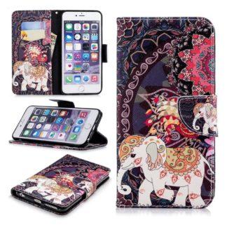 Plånboksfodral Apple iPhone 6 – Indiskt / Elefant