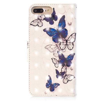 Plånboksfodral Apple iPhone 6 Plus – Blåa och Vita Fjärilar