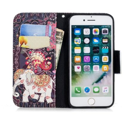 Plånboksfodral Apple iPhone SE (2020) – Indiskt / Elefant