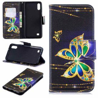 Plånboksfodral Samsung Galaxy A10 – Guldfjäril