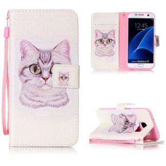 Plånboksfodral Samsung Galaxy S7 – Katt