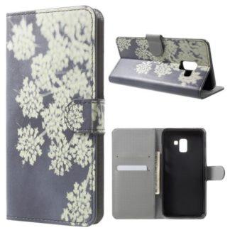 Plånboksfodral Samsung Galaxy A8 (2018) – Små Blommor