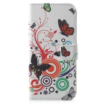Plånboksfodral Huawei Y6 2018 - Vit med Fjärilar