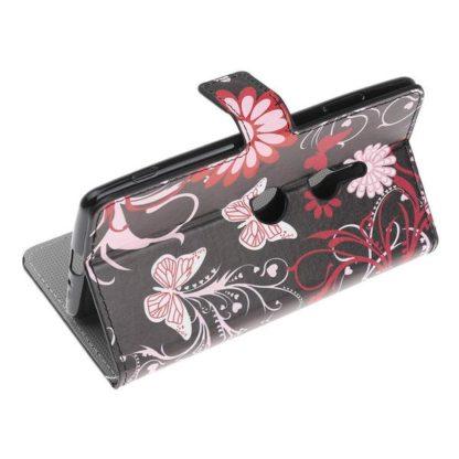 Plånboksfodral Sony Xperia XZ3 - Svart med Fjärilar