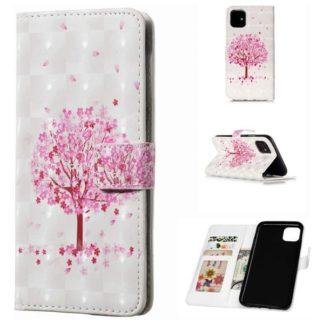 Plånboksfodral Apple iPhone 11 – Rosa Träd