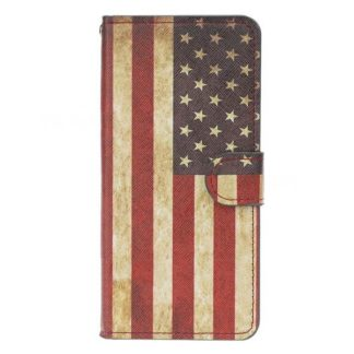 Plånboksfodral Samsung Galaxy A10 - Flagga USA