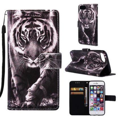 Plånboksfodral iPhone SE (2020) – Tiger