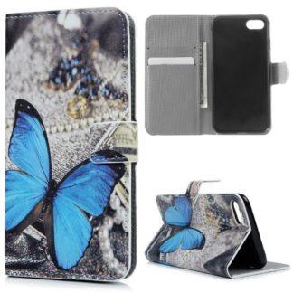 Plånboksfodral Apple iPhone SE (2020) – Blå Fjäril