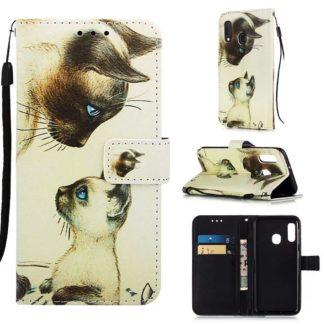 Plånboksfodral Samsung Galaxy A40 – Katter