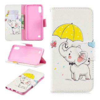 Plånboksfodral Samsung Galaxy A10 – Elefant med Paraply