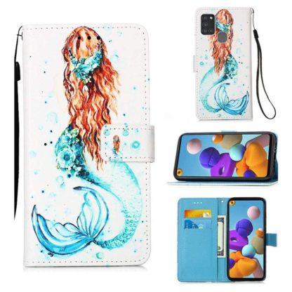 Plånboksfodral Samsung Galaxy A21s – Sjöjungfru