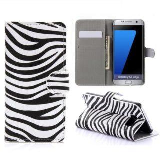 Plånboksfodral Samsung Galaxy S7 Edge - Zebra