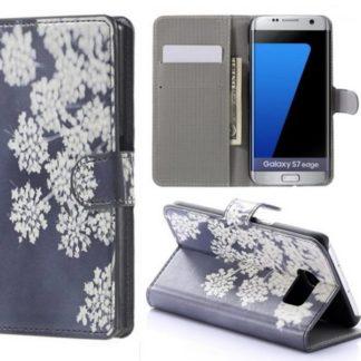 Plånboksfodral Samsung Galaxy S7 Edge – Små Blommor