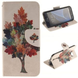 Plånboksfodral Samsung Galaxy S7 Edge – Träd