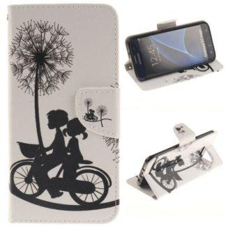 Plånboksfodral Samsung Galaxy S7 Edge – Cyklande Barn