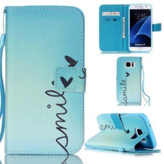 Plånboksfodral Samsung Galaxy S7 - Smile