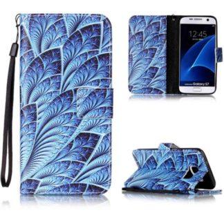 Plånboksfodral Samsung Galaxy S7 – Blå Blomma