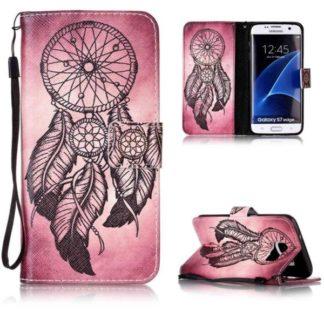 Plånboksfodral Samsung Galaxy S7 Edge – Drömfångare Rosa/Röd