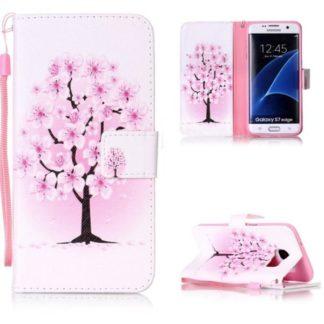 Plånboksfodral Samsung Galaxy S7 Edge – Rosa Träd
