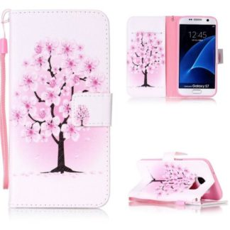 Plånboksfodral Samsung Galaxy S7 – Rosa Träd