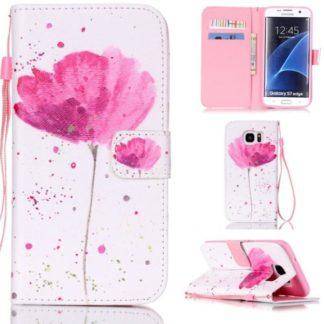 Plånboksfodral Samsung Galaxy S7 Edge – Rosa Blomma