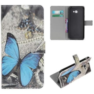 Plånboksfodral Samsung Galaxy J4 Plus - Blå Fjäril